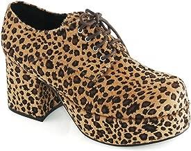 Pimp Adult Costume Shoes Leopard Print - Large