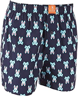 Psycho Bunny Men's Woven Boxer Shorts