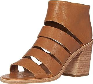Frye Women's Tash Cut Out Bootie Heeled Sandal, Cognac, 6.5 M US