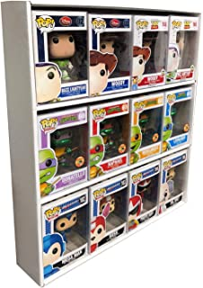 in Box Display Case Toy Shelf for 4 in. Vinyl Collectible Figures, White Corrugated Cardboard