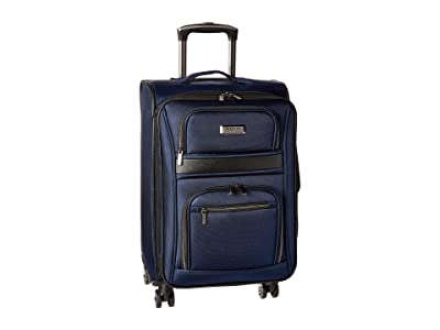 Kenneth Cole Reaction 20 Rugged Roamer Lightweight Softside Expandable 8-Wheel Carry-On Suitcase (Navy) Luggage