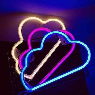 ENUOLI Wolke Neon Licht Pink Neon Schilder Batterie/USB Powered Neon Licht Schilder LED Neon Lichter Pink Wolke Neon Licht für Party Neon Lichter für Wände leuchten Schilder für Schlafzimmer Weihnachten Hochzeit Dekor