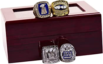 New York Giants 1986 1990 2007 2011 XXI XXV XLII XLVI Supper Bowl Championship Rings Display Box Full Set Replica (with box)