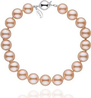 8.5-9.0 mm Pink to Peach Freshadama Cultured Pearl Bracelet