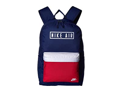 Nike Heritage Air GFX Backpack 2.0 (Blue Void/University Red/White) Backpack Bags