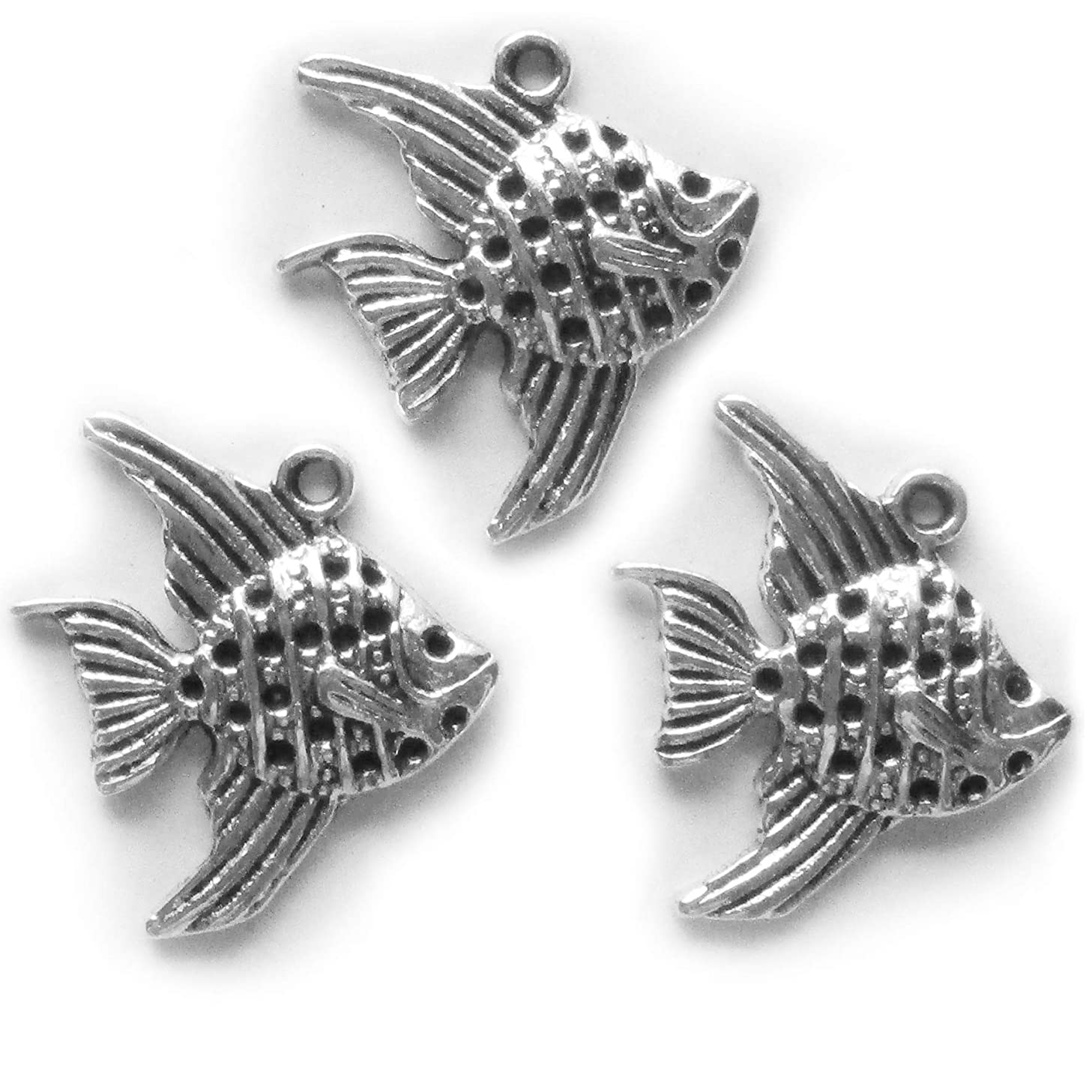 50 Pieces Goldfish Antique Silver Pendants for Jewelry Making Supplies Bracelet Necklace Jewelry Accessories Beading?