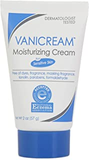 Vanicream Moisturizing Skin Cream Tube for Sensitive Skin, Soothes Red, Irritated, Cracked or Itchy Skin, Dye Free, Fragrance Free, Preservative Free, Dermatologist Tested, 2 Ounce (Pack of 1)