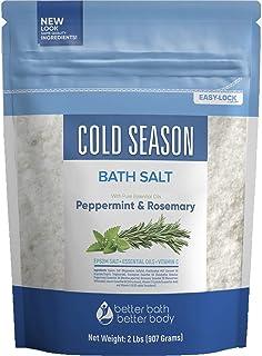 Sponsored Ad - Cold Season Bath Salt 32 Ounces Epsom Salt with Natural Rosemary, Peppermint, Eucalyptus and Lemon Essentia...