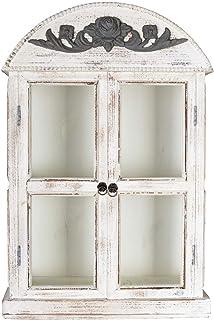 Vitrina De Pared Shabby Chic Armario Pared Escaparate Antiguo Vitrina De Colgar Vintage Palazzo Exclusivo