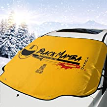 ENXIANGXIJ Black Mamba Motorcycle Club Kill Bill Car Windshield Snow Cover, Ice Removal Sun Shade, Fit for Universal Cars (58'' X47'')