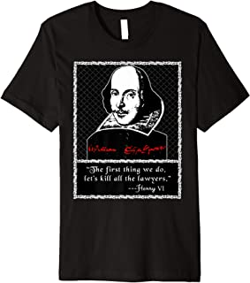 Kill All the Lawyers T-shirt Shakespeare Quote
