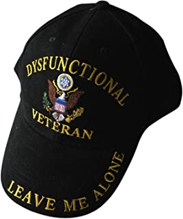 ee Dysfunctional Veteran Direct Embroidered Hat - Black - Veteran Owned Business