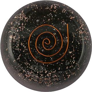 Aatm Energy Generator Black Tourmaline Flat Orgone for EMF Protection Chakra Healing Meditation with Copper (Stone of Posi...