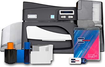 Fargo DTC4500e Single side ID Card Printer & Supplies Bundle with Card Imaging Software