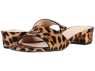 J.Crew Flora Slide in Leopard (Rich Mahogany) High Heels