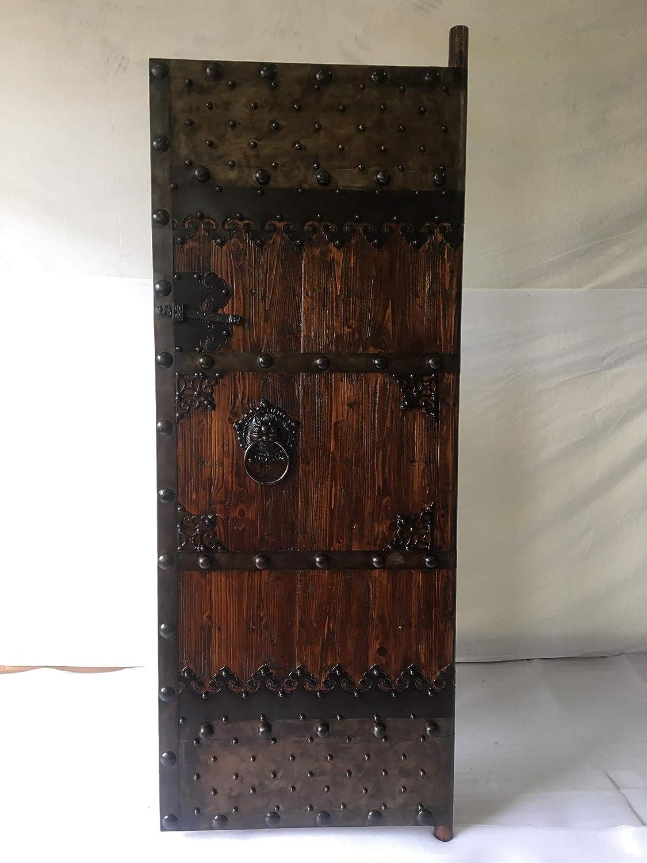 Puerta de entrada antigua, madera maciza, 80 x 200 cm