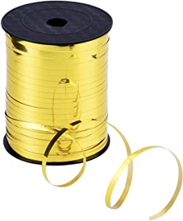 Outus 3/16 Inch Crimped Curling Ribbon Balloon Ribbon Spool 500 Yard for Balloons or Gift Wrapping (Metallic Gold)