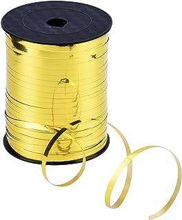 Outus 3/16 Inch Crimped Curling Ribbon Balloon Ribbon Spool 500 Yard, Metallic Gold