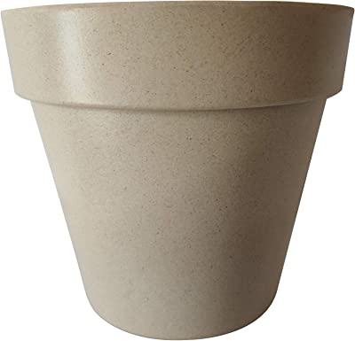 Sefain Ltd Bamboo Fiber Flower Pot - Indoor Planters Plant Basket, Eco-Friendly, 4 Pot Set Indoor Outdoor Garden, for Home Decor, Give Your Garden a Dramatic Effect