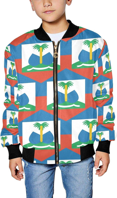 Haiti Flag Boy's Popular brand Factory outlet Jacket Girl's Bomber