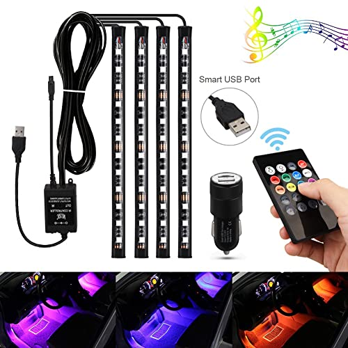 5V USB Blau LED Auto Ambientebeleuchtung Innenraumbeleuchtung Lichtleiste Licht