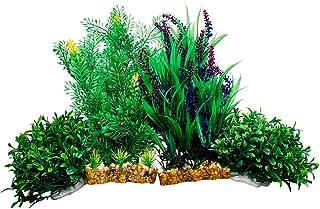 Otterly Pets Fish Tank Aquarium Decorations Premium Large Artificial Plastic Plants Accessories Decoration Plant Decor Bet...
