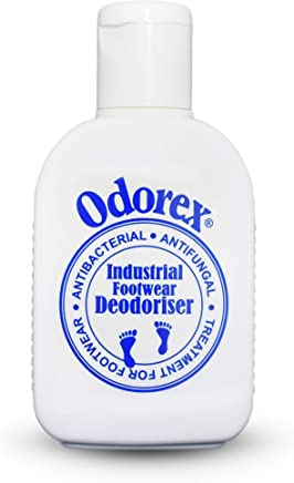 Foot Odour Eliminator for Smelly & Stinky Feet - Fungus & Athletes Foot Prevention   Shoe Deodoriser and Antiperspirant – Odorex Industrial - Antifungal, Kills Odour FAST   10 shoes fresh for 1 yr