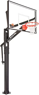 Goalrilla Basketball Hoop with Tempered Glass Backboard, Black Anodized Frame, and In-ground Anchor System