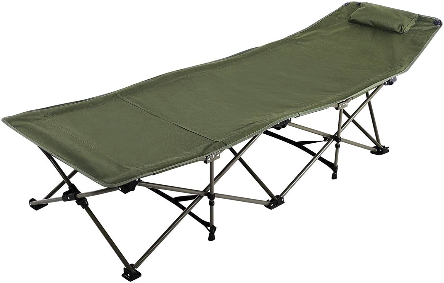 REDCAMP Camping Cot for Adults with Attached Pillow Easy & Portable Cot Free Storage Bag Included