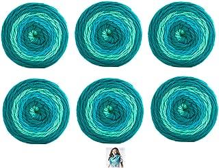 Sweet Roll Yarn - 6 Pack with Pattern (Frosty Swirl)