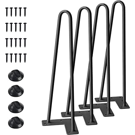 "Set of 4 Hairpin 16/"" Coffee Table Legs Solid Iron for Nightstand End Table Bar"
