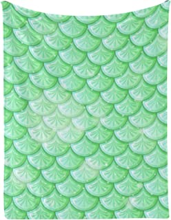 Sponsored Ad - Green Fish Scales Personalized Baby Blankets with Name 30x40 Inch for Newborn Crib Infants