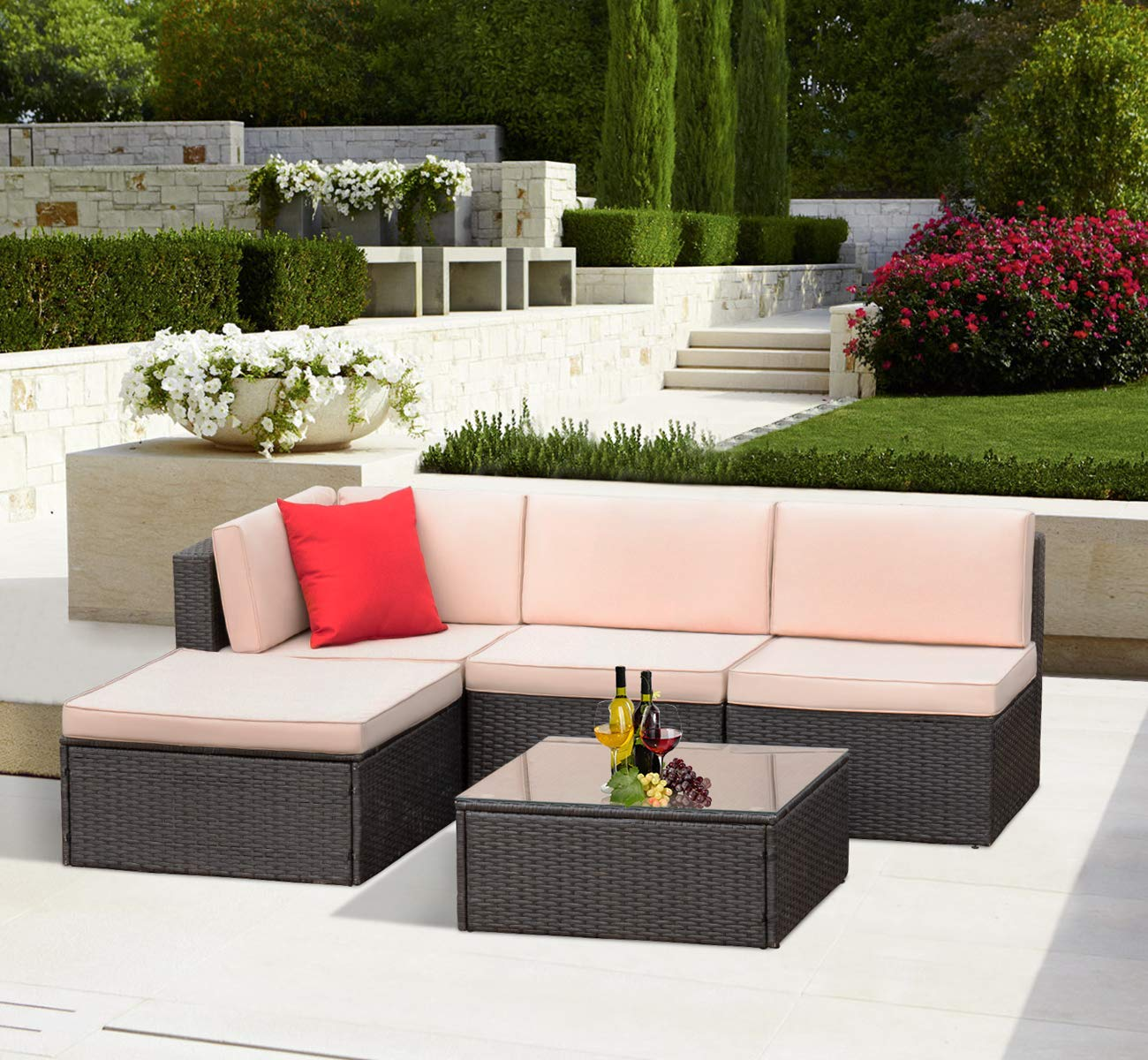 KaiMeng Outdoor Patio Furniture Lawn Garden Patio Sets All-Weather