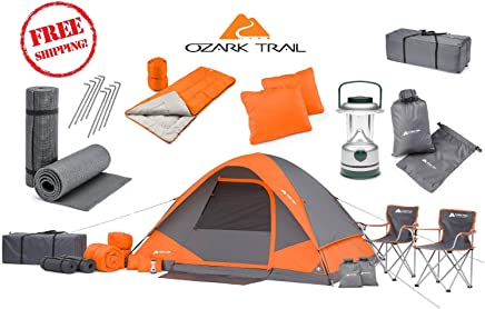 good! Camping Equipment Family Cabin Tent Sleeping Bag...