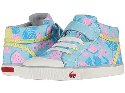 See Kai Run Kids Peyton (Toddler/Little Kid) (Light Blue Tropical) Girls Shoes