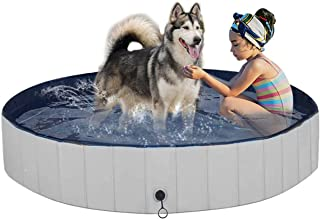 Juegoal Fold Dog Pool Foldable Baby Dog Pet Bath Swimming Pool