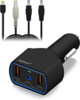 BatPower CCL2 UL Listed 120W 90W Laptop Car Charger Power Supply Adapter for Lenovo ThinkPad Carbon Ultrabook IdeaPad Helix Flex Yoga Notebook USB QC3.0 Fast Charging Tablet Smartphone