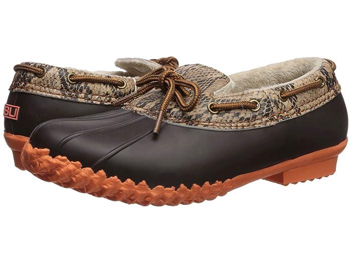 JBU  Gwen (Brown Python/Coral) Womens Slip on  Shoes