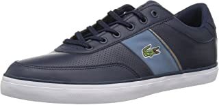 Lacoste Men's Court-Master Sneaker, Navy Blue Leather, 13 Medium US, Navy, Size 13 US