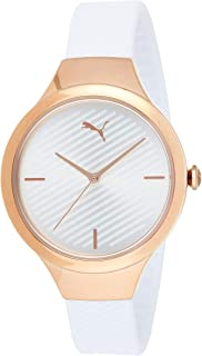 Puma Contour Women's Silver Dial PU Leather Analog Watch - P1018