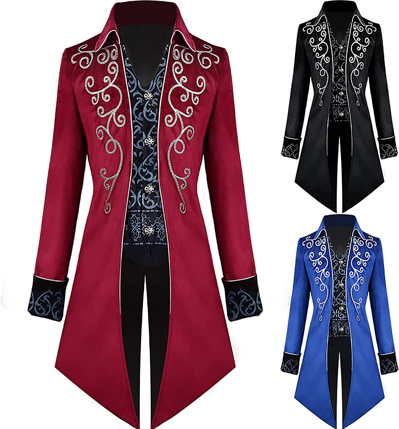 Men's low-pricing Medieval Steampunk Tailcoat Fixed price for sale Got Renaissance Pirate Vampire