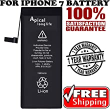Apical Longlife Replacement 1960mAh Battery for Model iPhone 7 A1660,A1778,A1779 0 Cycle - [365 Days Warranty] Batería de repuesto