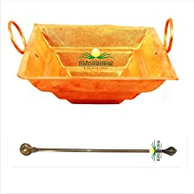 Copper Yagya Hawan/Havan/Yagna Kund /,hawan Spoon, Poojan Purpose, Indian Cultural Religious Item Best for Home, Office, G...