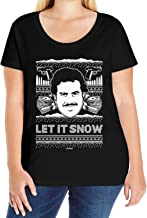 Haase Unlimited Let It Snow - Famous Drug Lord Ugly Christmas Ladies Curvy T-Shirt