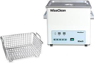 Witeg Bain à ultrasons WUC-D06H 6L jusqu'à 80°C 40kHz, contrôle numérique, panier métallique et couvercle plat, pour le ne...