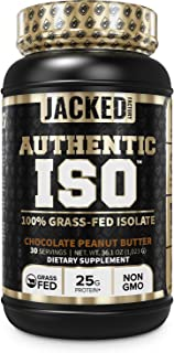 Authentic ISO 100% Grass Fed Muscle Building Whey Protein Isolate Powder - Low Carb, Grass-Fed, Non-GMO, No Fillers, Mixes...