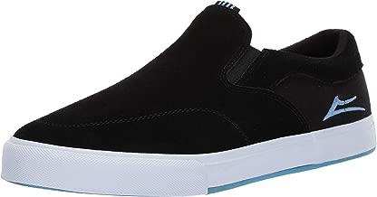Lakai Footwear Owen VLK Capps Black Suedesize Tennis Shoe, Black Suede