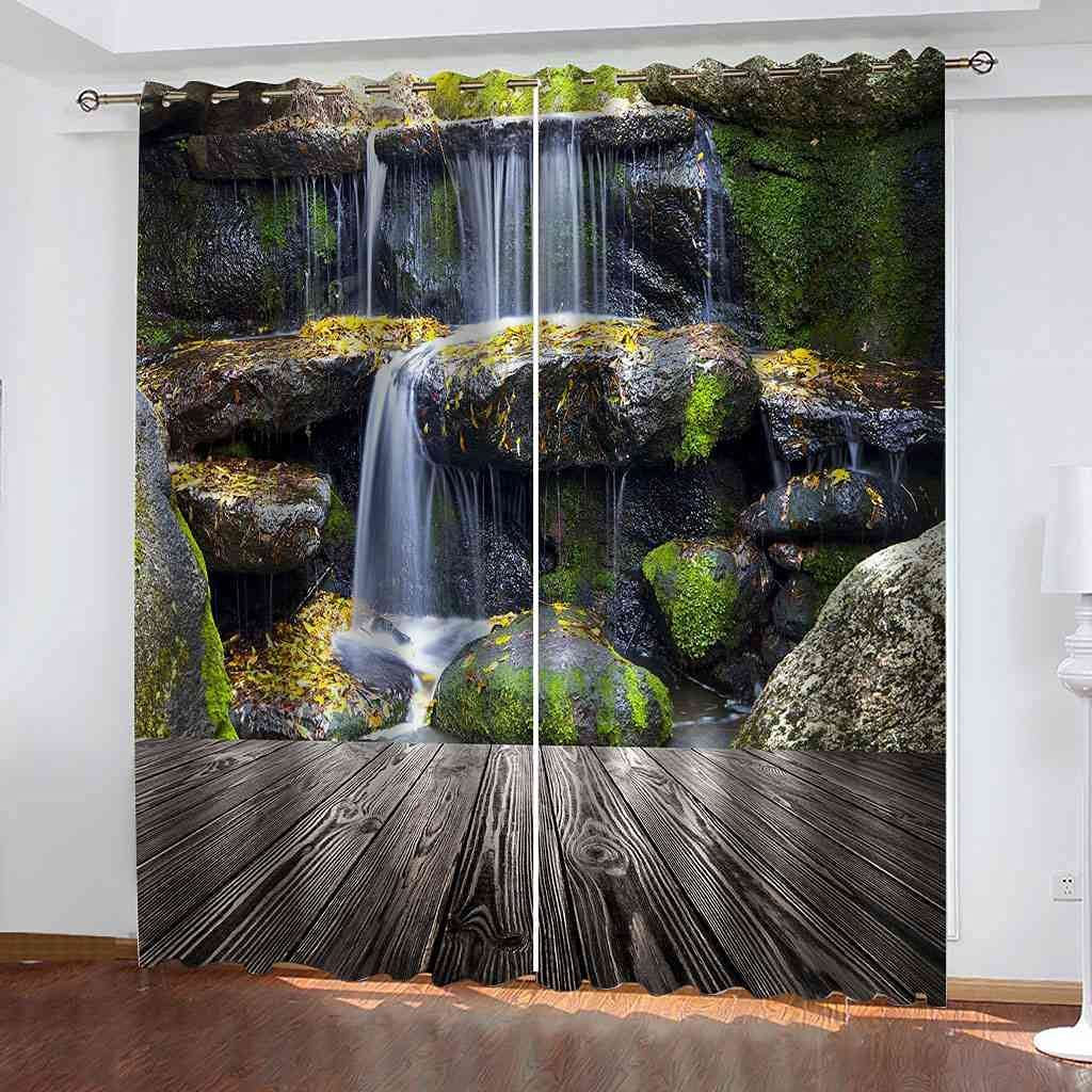 TPBUVQ Blackout Spring new work Curtains Rock 104x95 Waterfall San Diego Mall Creek inchThermal