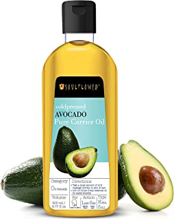 Soulflower Avocado Carrier Oil for Hair Growth, Face & Skin Care, Controls Acne, Moisturizing Scalp - 100% Pure, Organic, ...