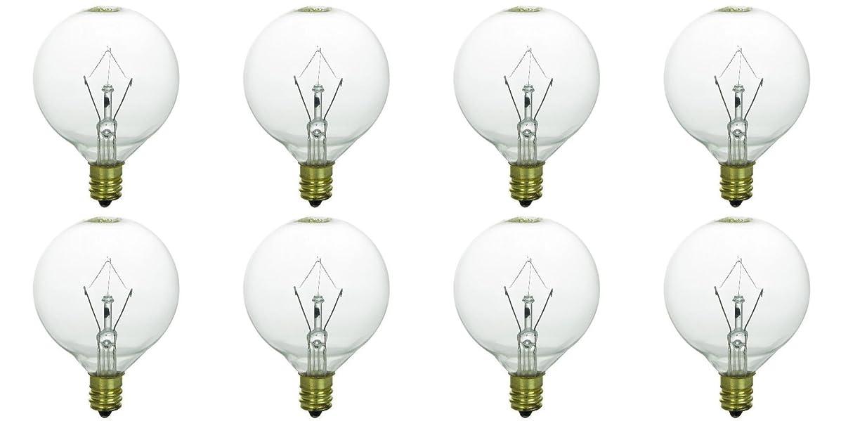 25 Watt Bulbs for Scentsy Full-Size Warmers, KE-25WLITE Extra Long Life, 25W 120 Volt, Pack of 8